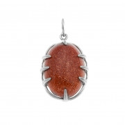 925 Sterling Silver pendants with carnelian and quartz