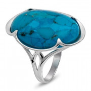 925 Sterling Silver women's rings with fluorite and cacholong
