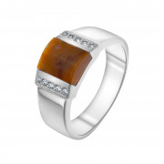 925 Sterling Silver women's rings with jade and carnelian