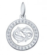 925 Sterling Silver pendants with cubic zirconia