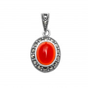 925 Sterling Silver pendants with carnelian
