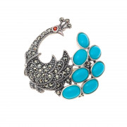 925 Sterling Silver brooches with marcasite