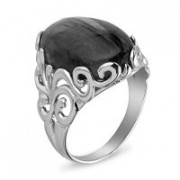 925 Sterling Silver women's rings with coral and malachite