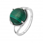 925 Sterling Silver women's rings with malachite