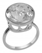 925 Sterling Silver women's rings with rhinestone