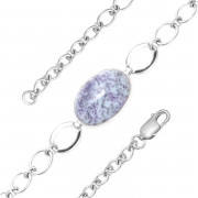 925 Sterling Silver bracelets with amethyst and zoisite