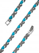 925 Sterling Silver bracelets with marcasite and turquoise