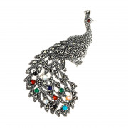 925 Sterling Silver brooches with mix and carnelian