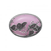 925 Sterling Silver brooches with  and pink quartz