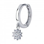 925 Sterling Silver one ear earring with cubic zirconia