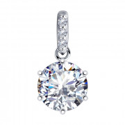 925 Sterling Silver pendants with cubic zirconia swarovski and cubic zirconia