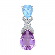 925 Sterling Silver pendants with topaz and amethyst