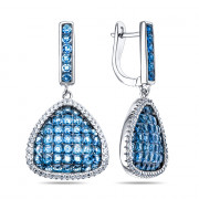 925 Sterling Silver pair earrings with cubic zircon