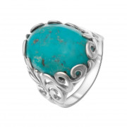 925 Sterling Silver women's rings with bullseye and amazonite