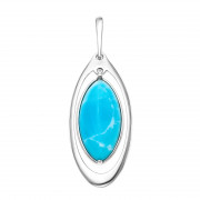 925 Sterling Silver pendants with larimar