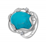 925 Sterling Silver women's rings with coral and