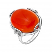 925 Sterling Silver women's rings with carnelian and pink quartz
