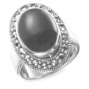 925 Sterling Silver women's rings with green agate and chrysoprase