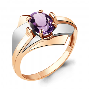 925 Sterling Silver women's rings with amethyst