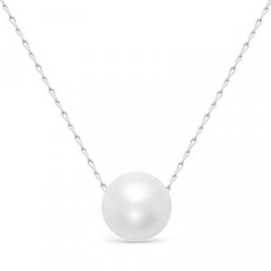 925 Sterling Silver necklaces with pearl imit.