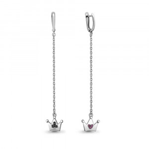 925 Sterling Silver pair earrings with nano crystal