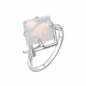 925 Sterling Silver women's rings with opal
