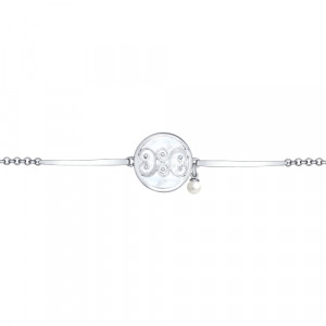 925 Sterling Silver bracelets with pearl imit. and pearl