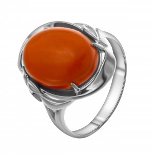 925 Sterling Silver women's rings with chrysoprase and coral