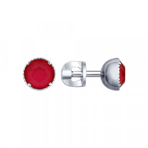 925 Sterling Silver pair earrings with cubic zirconia swarovski and cubic zirconia