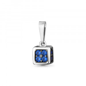 925 Sterling Silver pendants with nano sapphire