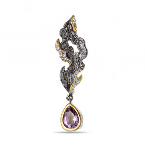 925 Sterling Silver pendants with white topaz