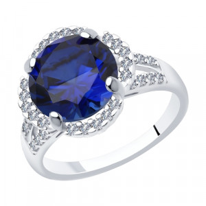 925 Sterling Silver women's rings with sitall and cubic zirconia