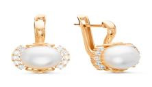 925 Sterling Silver pair earrings with pearl