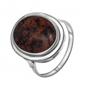 925 Sterling Silver women's rings with quartz and obsidian