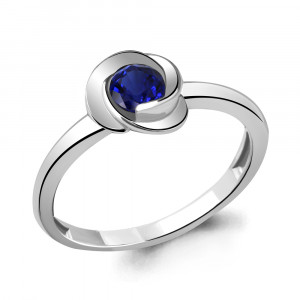 925 Sterling Silver women's rings with sapphire and sapphire gt