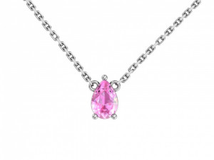 925 Sterling Silver necklaces with synthetic quartz