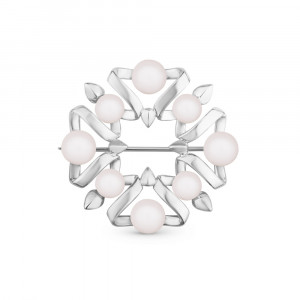 925 Sterling Silver brooches with pearl