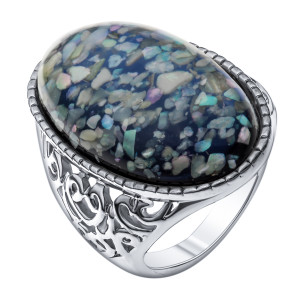 Bijuterii Alloy women's ring with resin