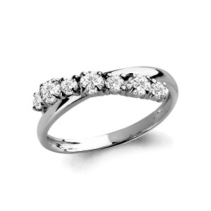 925 Sterling Silver women's rings with cubic zirconia and cubic zirconia swarovski