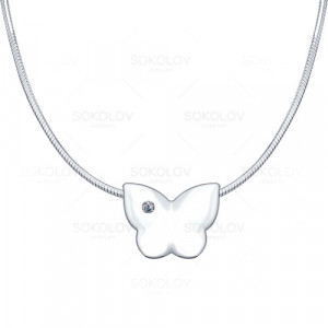 925 Sterling Silver necklaces with diamond