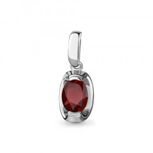 925 Sterling Silver pendants with garnet