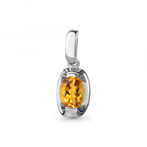 925 Sterling Silver pendants with citrine