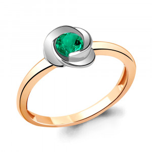 925 Sterling Silver women's rings with nano emerald and emerald gt