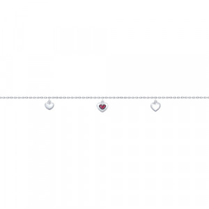 925 Sterling Silver bracelets with corundum and cubic zirconia
