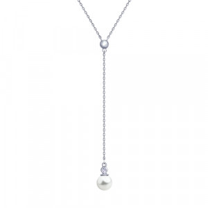 925 Sterling Silver necklaces with pearl imit. and