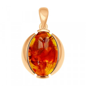 925 Sterling Silver pendants with  and amber