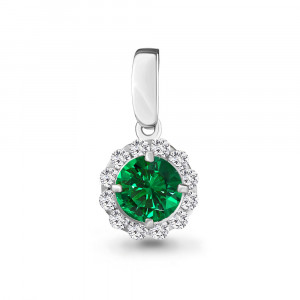 925 Sterling Silver pendants with nano emerald and emerald gt