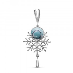 925 Sterling Silver pendants with cacholong