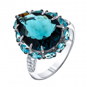 925 Sterling Silver women's rings with crystal and crystal jewelry