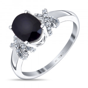 925 Sterling Silver women's rings with cubic zirconia and